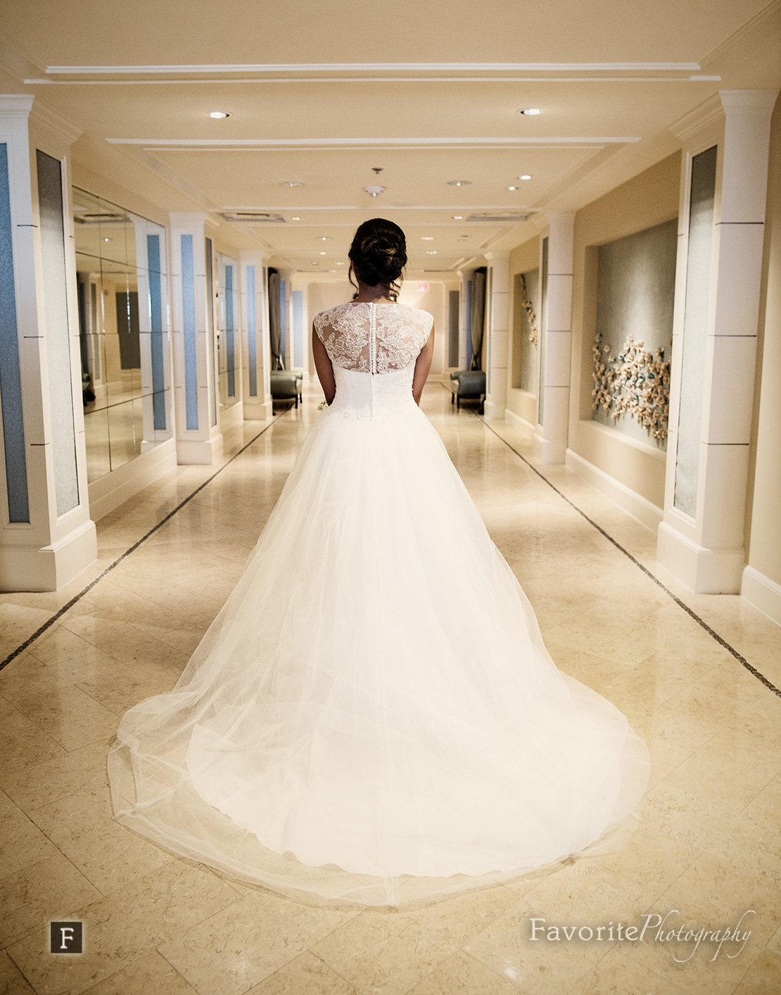 Back of Wedding Gown Photo