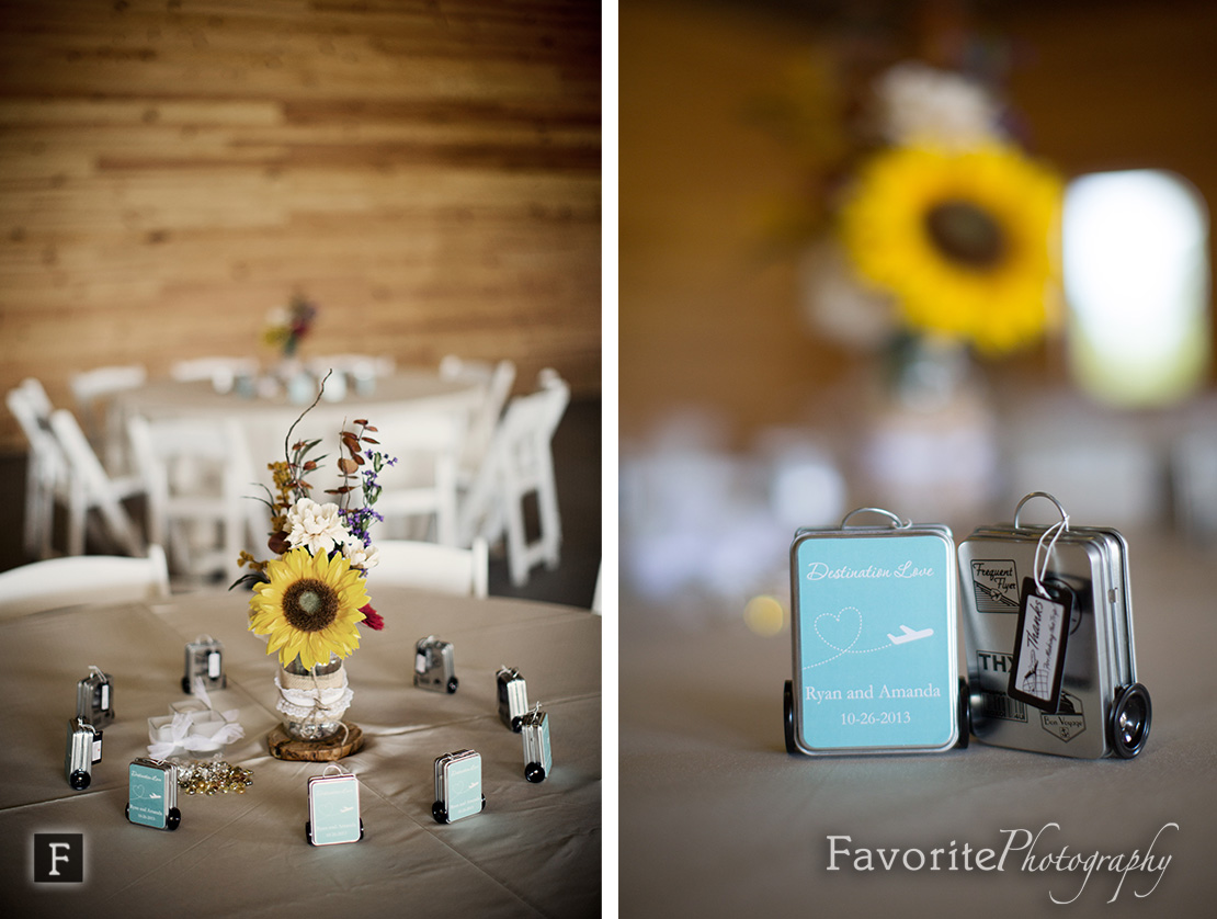 Wedding Table Setting Party Favors Photo